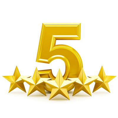 five star review image